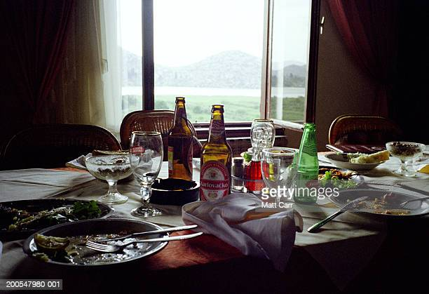 Dining table after lunch