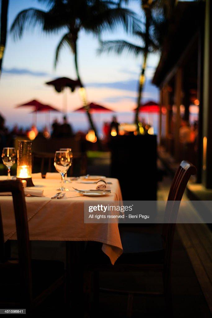 Dinner at Seminyak, Bali : Stock Photo