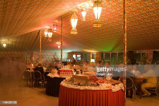 Dinner buffet in tent restaurant, Sheraton Sana'a Hotel.