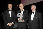 Dinner chairman Lorenzo D Weisman honoree Bertrand Collomb and dinner chairman John HF Haskell