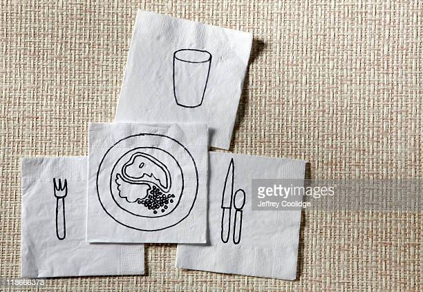 Dinner Drawn on Napkins
