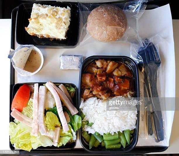 Abendessen auf dem Flugzeug