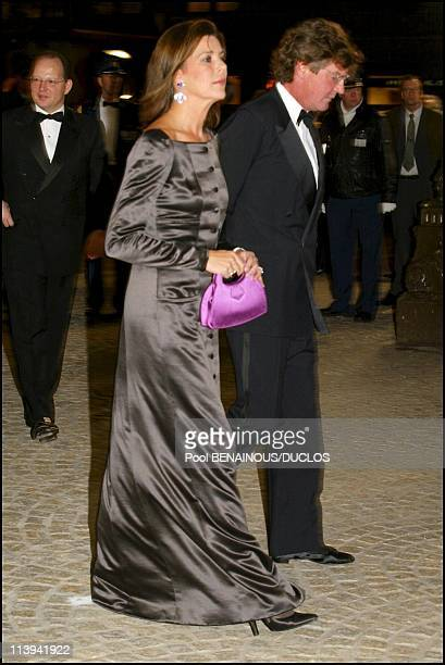Dinner party and ball to celebrate Queen Beatrix of the Netherland's birthday In Amsterdam Netherlands On January 31 2002Caroline de Monaco and her...