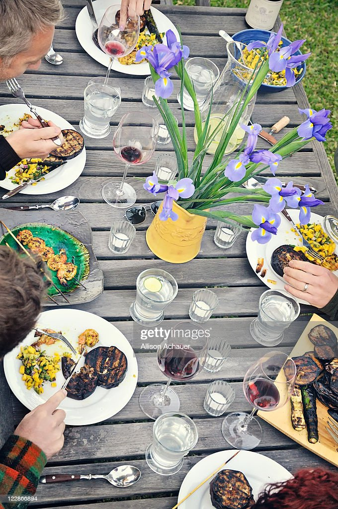 Dinner party table : Stock Photo