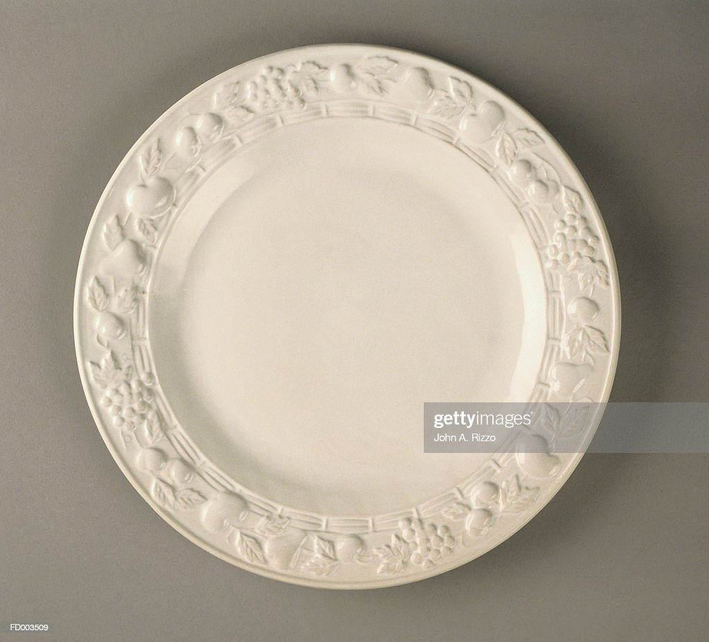 Dinner Plate Close-Up : Stock Photo