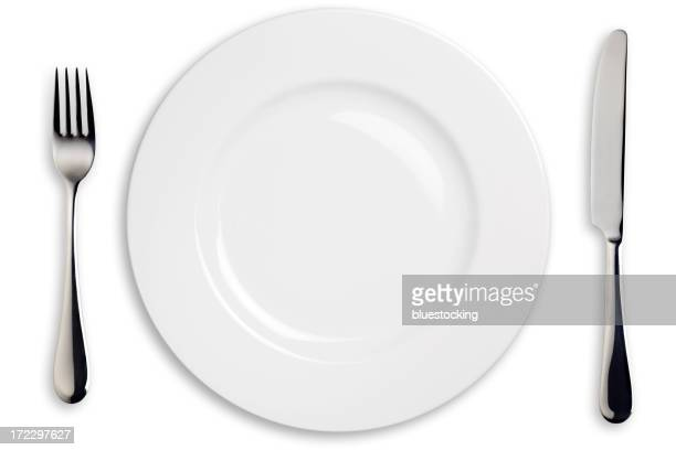 Dinner Plate, Knife, and Fork