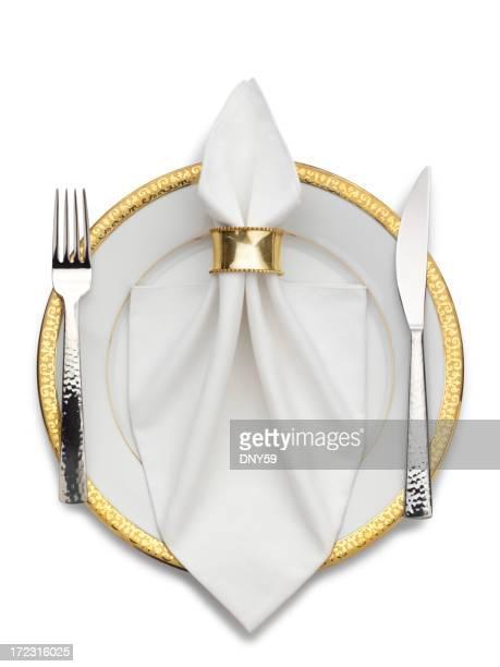Assiette et couverts & Serviette de table