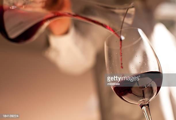 Abendessen, Wein Eingießen