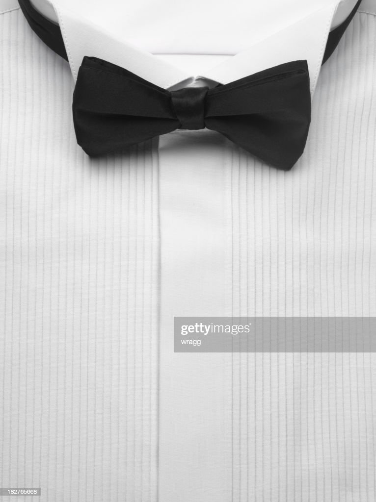 Dinner Shirt and Bow Tie : Stock Photo