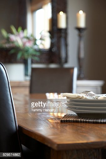 Dinner table : Stock-Foto