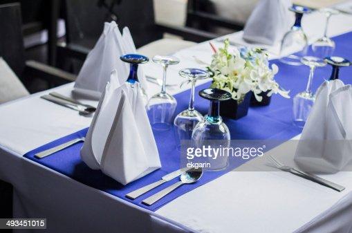 dinner table set up stock photo | thinkstock