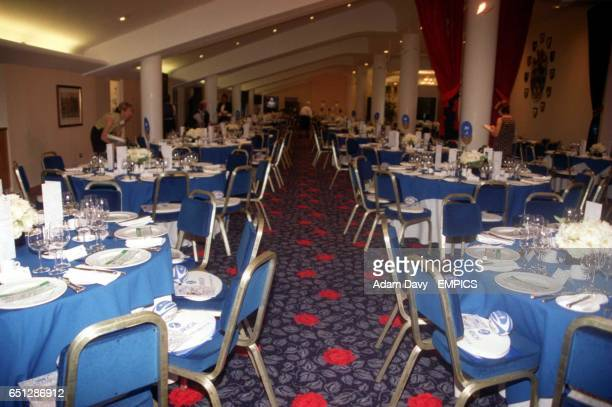 Dinner tables fill the Spirit of Rugby room at Twickenham
