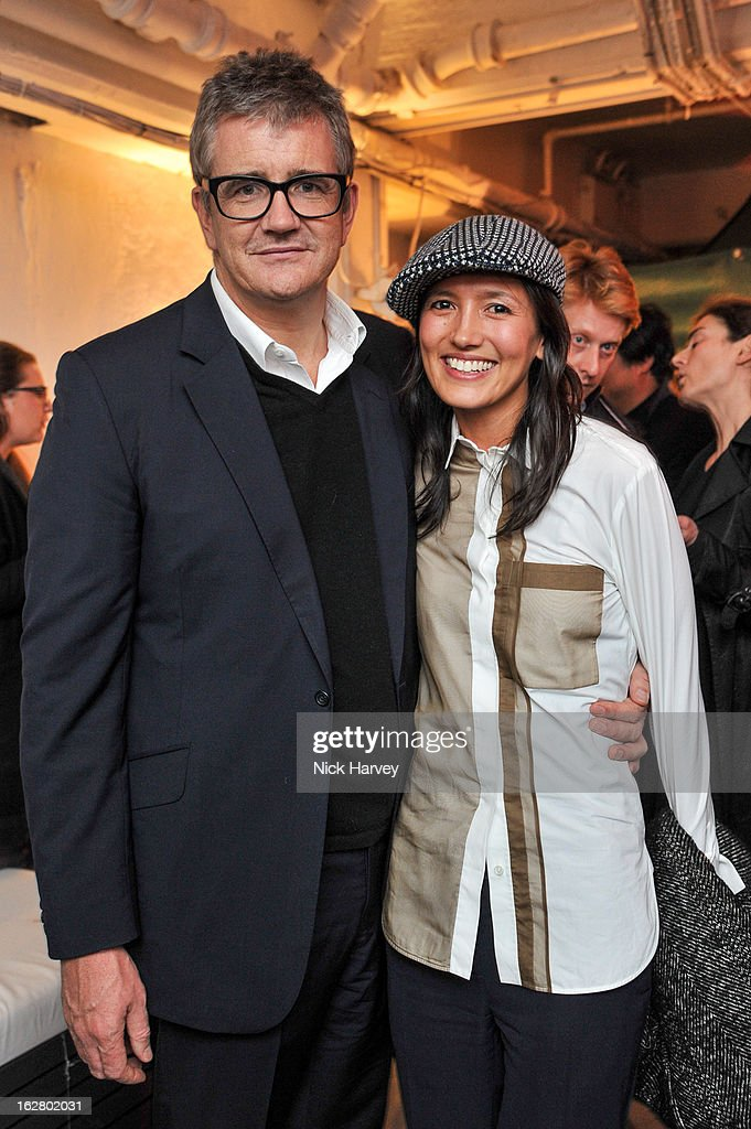 Dino Chapman and Hikari Yokoyama attend the launch of Dinos Chapman's album 'Luftbobler' at The Vinyl Factory Gallery on February 27, 2013 in London, England.