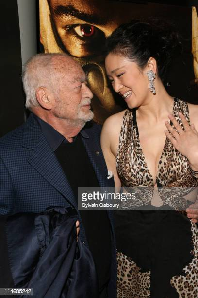 Dino De Laurentiis and Gong Li during MetroGoldwynMayer Pictures' and The Weinstein Company's Premiere of 'Hannibal Rising' Inside Arrivals at AMC...