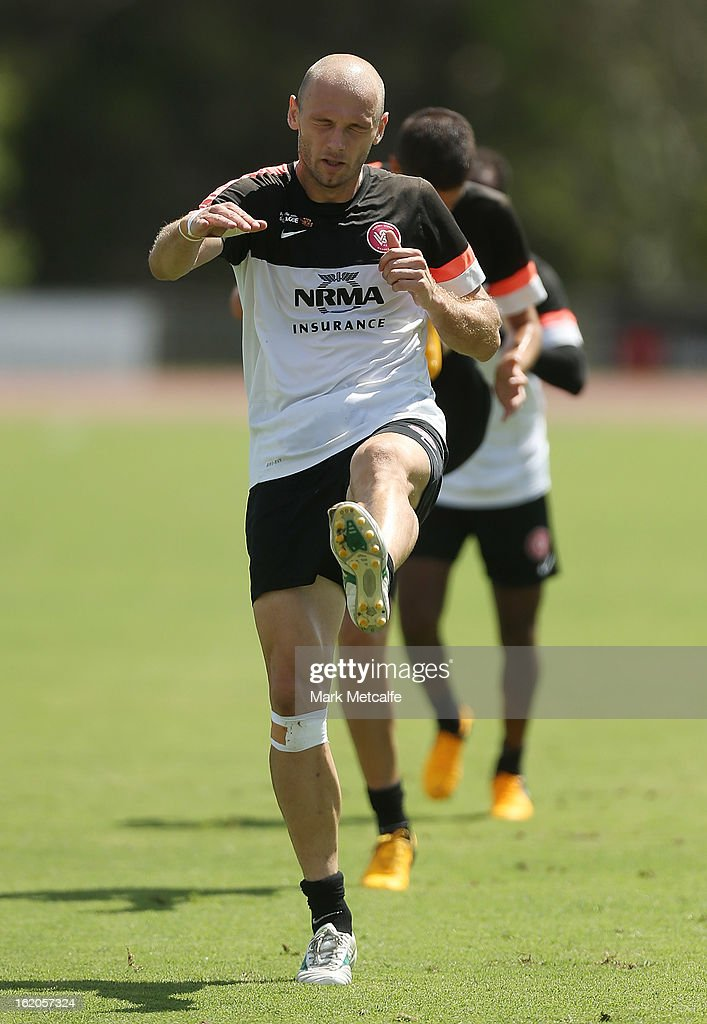 Dino Kresinger warms up during a Western Sydney Wanderers A-League training session at Blacktown International Sportspark on February 19, 2013 in Sydney, Australia.