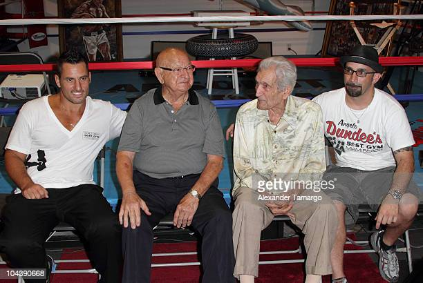 Dino Spencer Angelo Dundee Franky Pelliccio and Matt Baiamonte attends the ribbon cutting ceremony for the 5th Street Gym ReOpening on September 23...