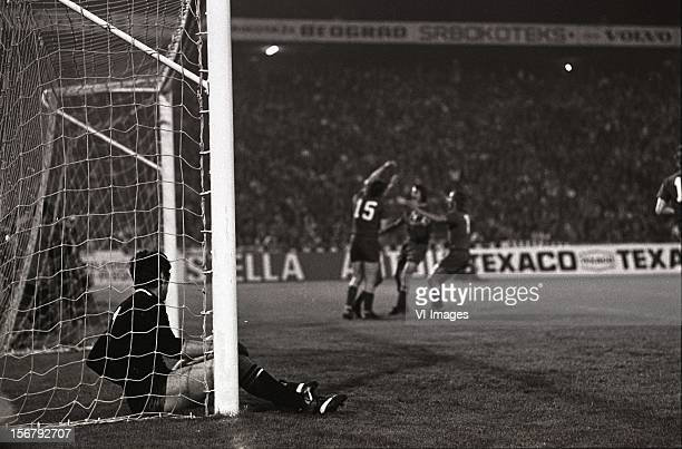 Dino Zoff during the European Cup final match between Ajax and Juventus at the Red Star Stadium on May 30 2012 in Belgrade Yugoslavia
