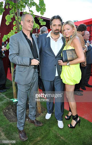 Dinos Chapman Keith Tyson and Fru Tholstrup attend the annual Serpentine Gallery summer party at The Serpentine Gallery on July 8 2010 in London...