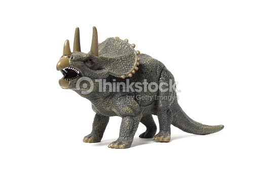 dinosaurs triceratops dinosaurs toy on digital imaging like a real
