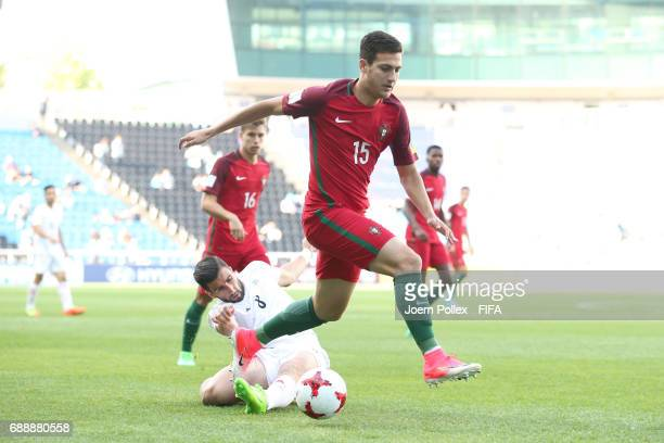 Diogo Dalot of Portugal and Ali Shojaei of Iran during the FIFA U20 World Cup Korea Republic 2017 group C match between Portugal and Iran at Incheon...