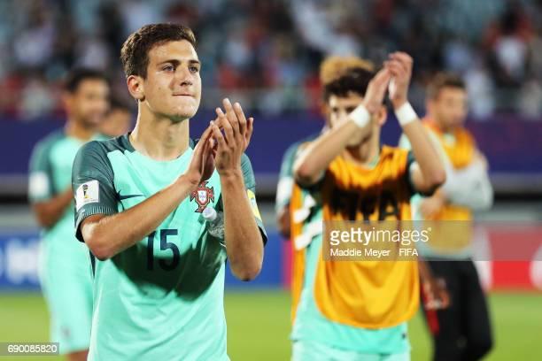 Diogo Dalot of Portugal celebrates after the FIFA U20 World Cup Korea Republic 2017 Round of 16 match between Korea Republic and Portugal at Cheonan...