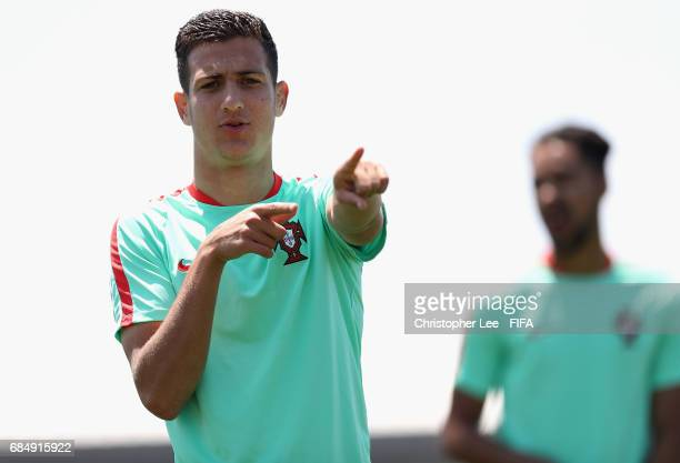 Diogo Dalot of Portugal in action during their training Session at Kang Chang Hak Stadium on May 19 2017 in Jeju South Korea