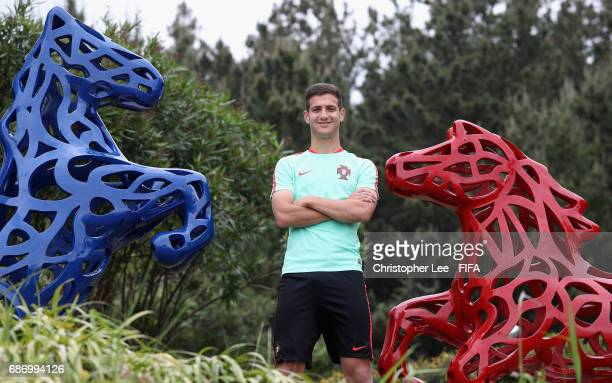 Diogo Dalot of Portugal poses for the camera after his interview with FIFAcom at the Hyatt Hotel on May 23 2017 in Jeju South Korea