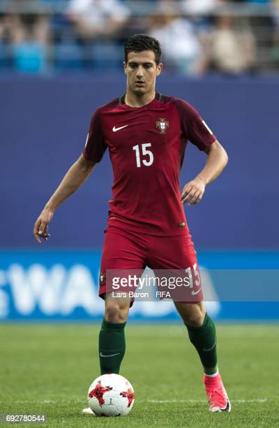 Diogo Dalot of Portugal runs with the ball during the FIFA U20 World Cup Korea Republic 2017 Quarter Final match between Portugal and Uruguay at...