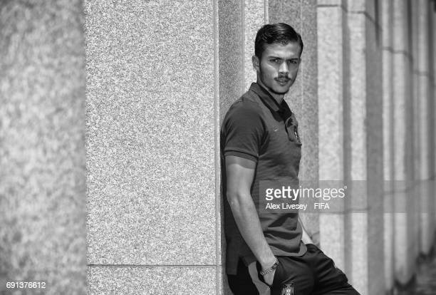 Diogo Goncalves of Portugal poses for a portrait at the Lotte City Hotel during the FIFA U20 World Cup on June 2 2017 in Daejeon South Korea