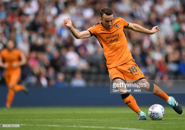 Diogo Jota of Wolverhampton Wanderers during the Sky Bet Championship match between Derby County and Wolverhampton at iPro Stadium on August 12 2017...