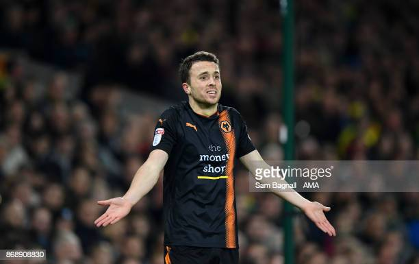 Diogo Jota of Wolverhampton Wanderers during the Sky Bet Championship match between Norwich City and Wolverhampton at Carrow Road on October 31 2017...