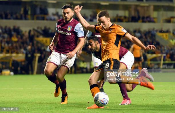 Diogo Jota of Wolverhampton Wanderers scores a goal to make it 10 during the Sky Bet Championship match between Wolverhampton and Aston Villa at...