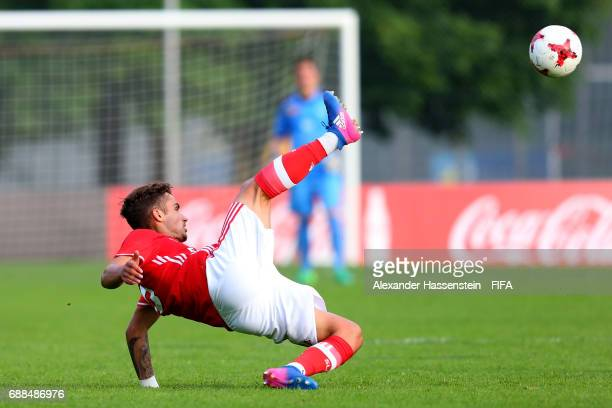 Diogo Pinto of Benfica controlls the ball duirng the 1st round match between Benfica Lissabon and FC Zuerich on day one of the Blue Stars/FIFA Youth...