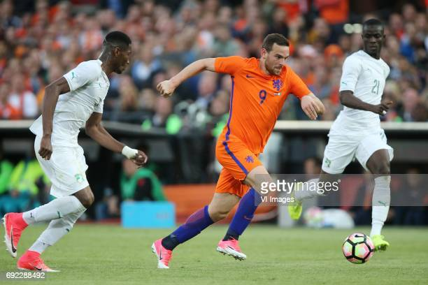 Diomande Ismael of Ivory Coast Vincent Janssen of Holland Eric Bailly of Ivory Coastduring the friendly match between The Netherlands and Ivory Coast...