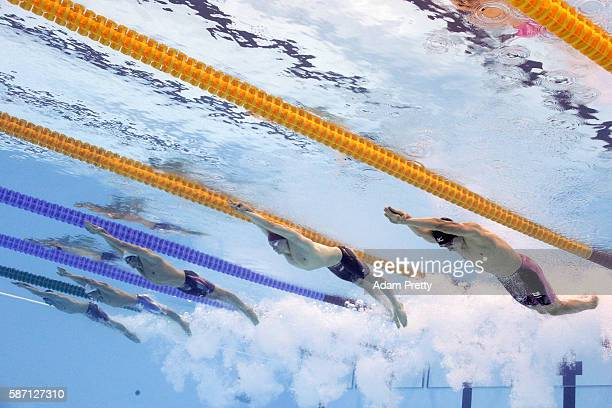 Dion Dreesens of the Netherlands Taehwan Park of Taiwan Conor Dwyer of the United States James Guy of Great Birtain and Kosuke Hagino of Japan...