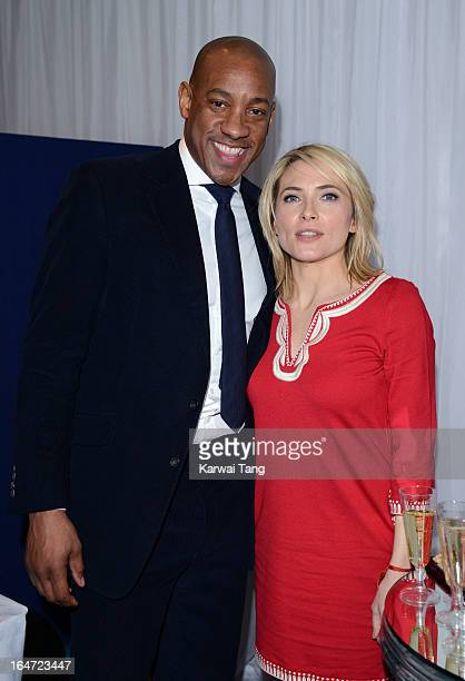 Dion Dublin and Lisa Rogers attends the Prince's Trust Celebrate Success Awards at Odeon Leicester Square on March 26 2013 in London England