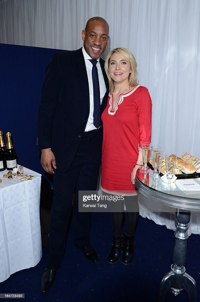 Dion Dublin and Lisa Rogers attends the Prince's Trust Celebrate Success Awards at Odeon Leicester Square on March 26, 2013 in London, England.