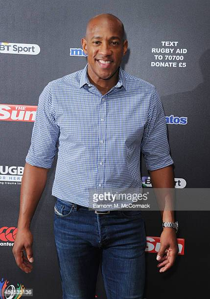 Dion Dublin attends the after party for Rugby Aid 2015 at Twickenham Stadium on September 4 2015 in London England