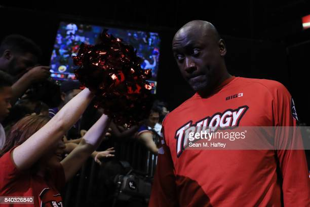 Dion Glover of Trilogy during the BIG3 three on three basketball league championship game on August 26 2017 in Las Vegas Nevada