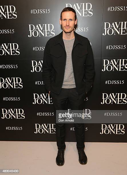 Dion Lee arrives at the David Jones Spring/Summer 2015 Fashion Launch on August 5 2015 in Sydney Australia