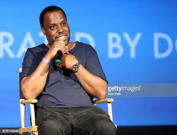 Dion 'No ID' Wilson speaks onstage Capitol Music Group's Premiere Of New Music And Projects For Industry And Media at ArcLight Cinemas on August 9...