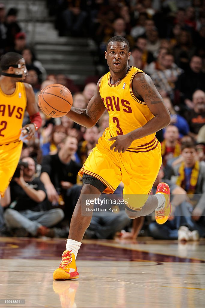 Dion Waiters #3 of the Cleveland Cavaliers drives against the Houston Rockets at The Quicken Loans Arena on January 5, 2013 in Cleveland, Ohio.