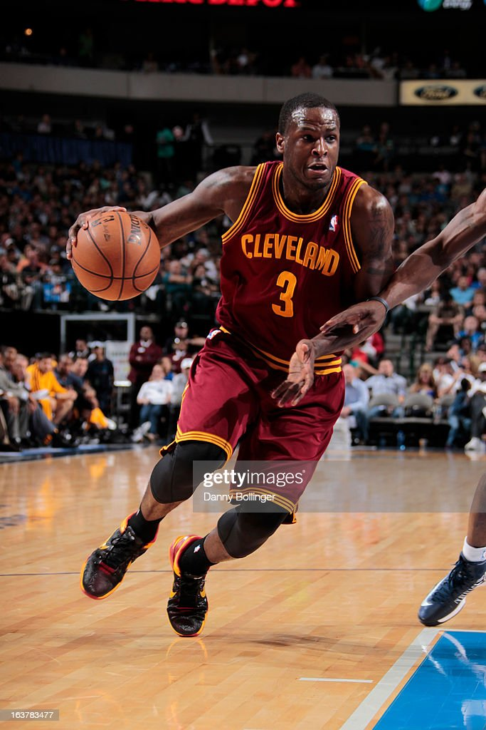 <a gi-track='captionPersonalityLinkClicked' href=/galleries/search?phrase=Dion+Waiters&family=editorial&specificpeople=6902921 ng-click='$event.stopPropagation()'>Dion Waiters</a> #3 of the Cleveland Cavaliers drives to the basket against the Dallas Mavericks on March 15, 2013 at the American Airlines Center in Dallas, Texas.