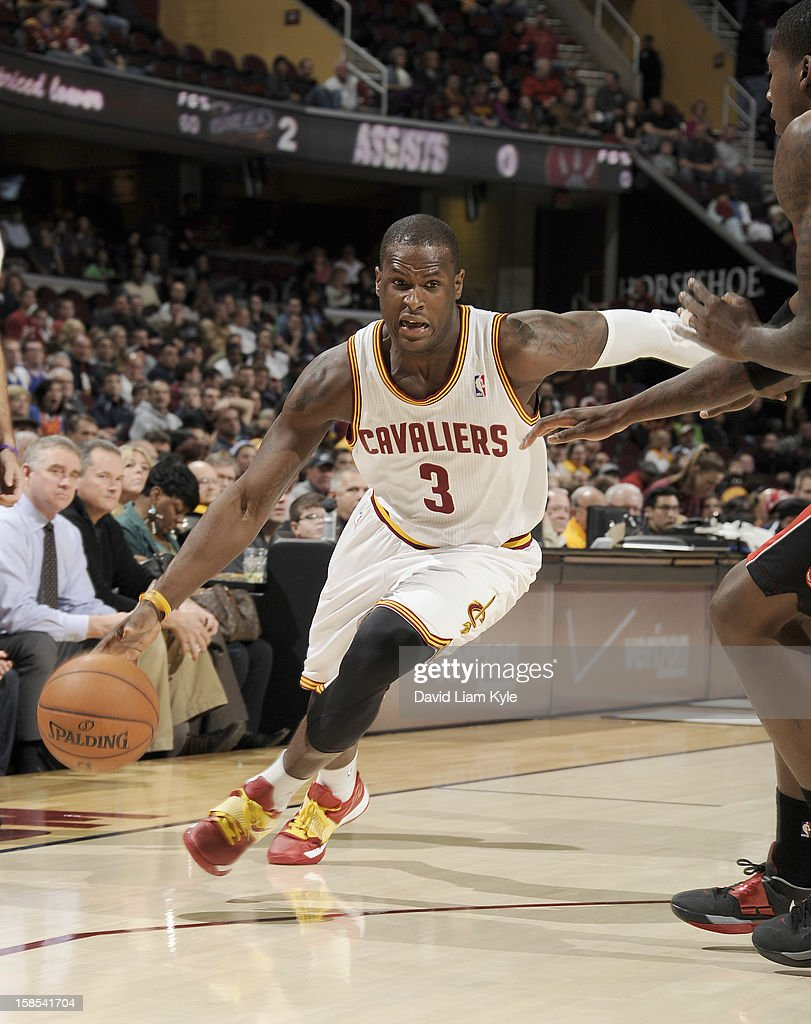 <a gi-track='captionPersonalityLinkClicked' href=/galleries/search?phrase=Dion+Waiters&family=editorial&specificpeople=6902921 ng-click='$event.stopPropagation()'>Dion Waiters</a> #3 of the Cleveland Cavaliers drives to the hoop against the Toronto Raptors at The Quicken Loans Arena on December 18, 2012 in Cleveland, Ohio.