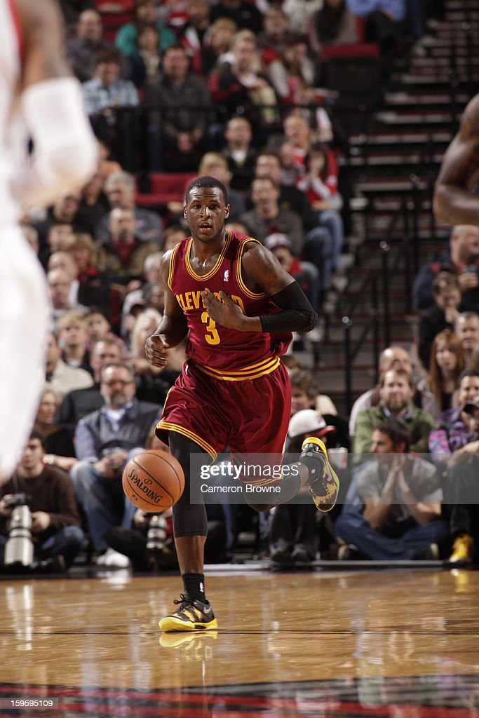 Dion Waiters #3 of the Cleveland Cavaliers drives up-court against the Portland Trail Blazers on January 16, 2013 at the Rose Garden Arena in Portland, Oregon.
