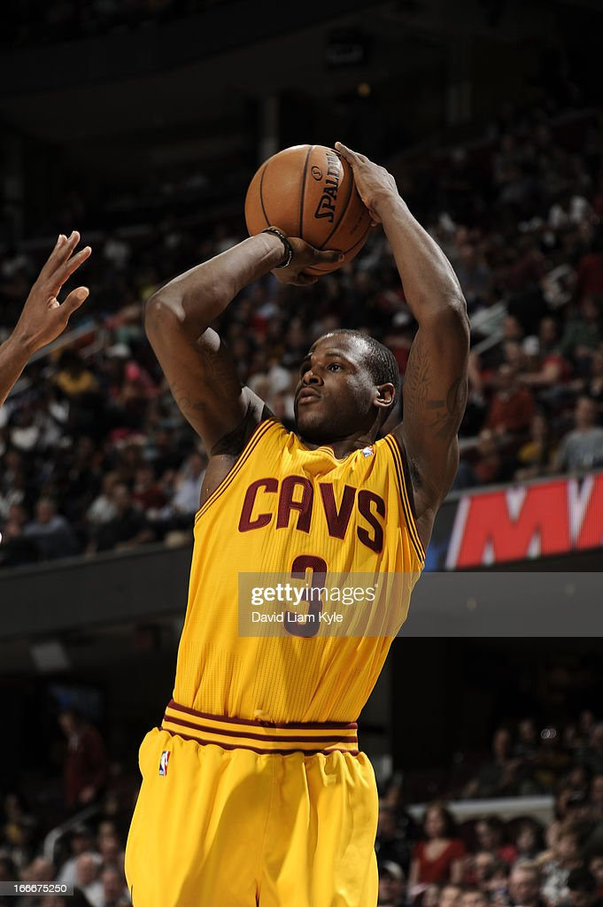 Dion Waiters #3 of the Cleveland Cavaliers goes up for the shot against the Miami Heat at The Quicken Loans Arena on April 15, 2013 in Cleveland, Ohio.