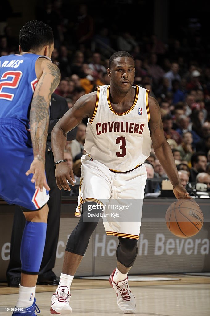 <a gi-track='captionPersonalityLinkClicked' href=/galleries/search?phrase=Dion+Waiters&family=editorial&specificpeople=6902921 ng-click='$event.stopPropagation()'>Dion Waiters</a> #3 of the Cleveland Cavaliers looks to drive to the hoop against against the Los Angeles Clippers at The Quicken Loans Arena on March 1, 2013 in Cleveland, Ohio.
