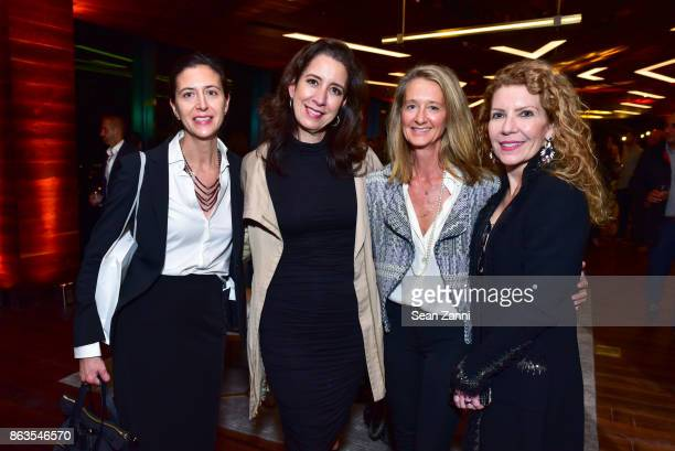 Dionicia Hernandez Iliana LopezBalboa Eve Combemale and Susan Ainsworth attend American Copper Building's Skybridge party hosted by JDS Development...