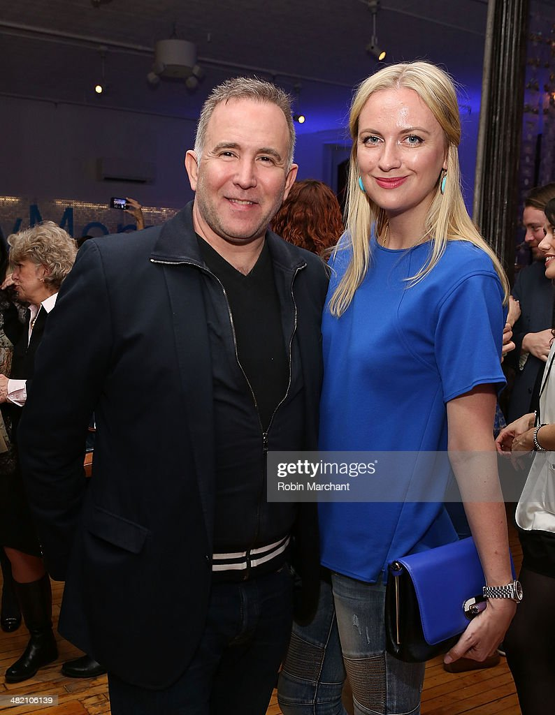 Dionisio Fontana (L) and Lana Smith attend American Express #EveryDayMoments at Home Studios on April 2, 2014 in New York City.