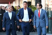 Dionisio Pestana Cristiano Ronaldo and Miguel Albuquerque during the opening of the new 'Pestana CR7 Funchal' Hotel owned by Cristiano Ronaldo on...